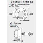 Penny & Giles SA59660 SLS320 Flange Mounting Kit